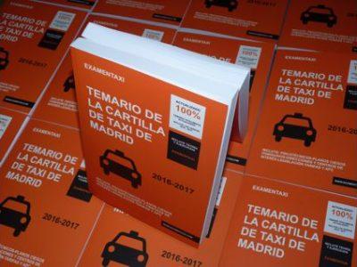 Temario de la Cartilla del Taxi
