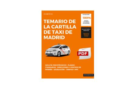 temario del examen del taxi