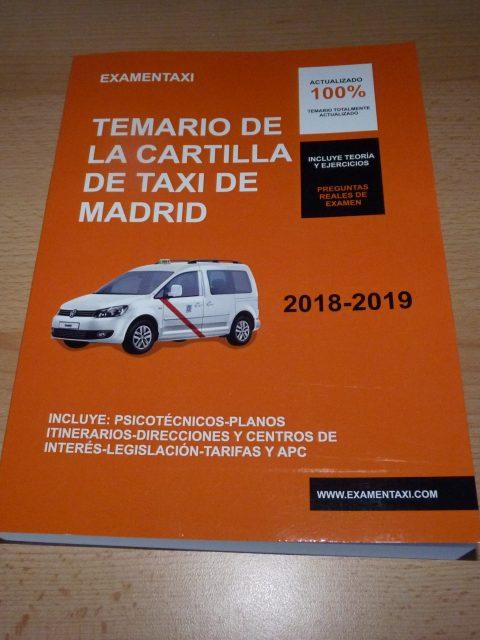 Temario de la Cartilla de Taxi
