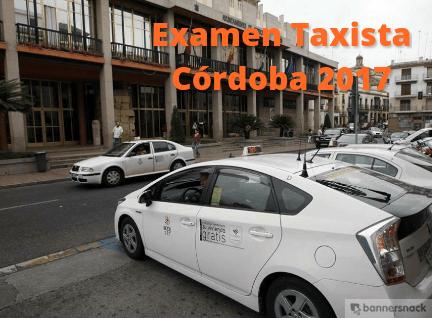 Examen de taxista de Córdoba 2017