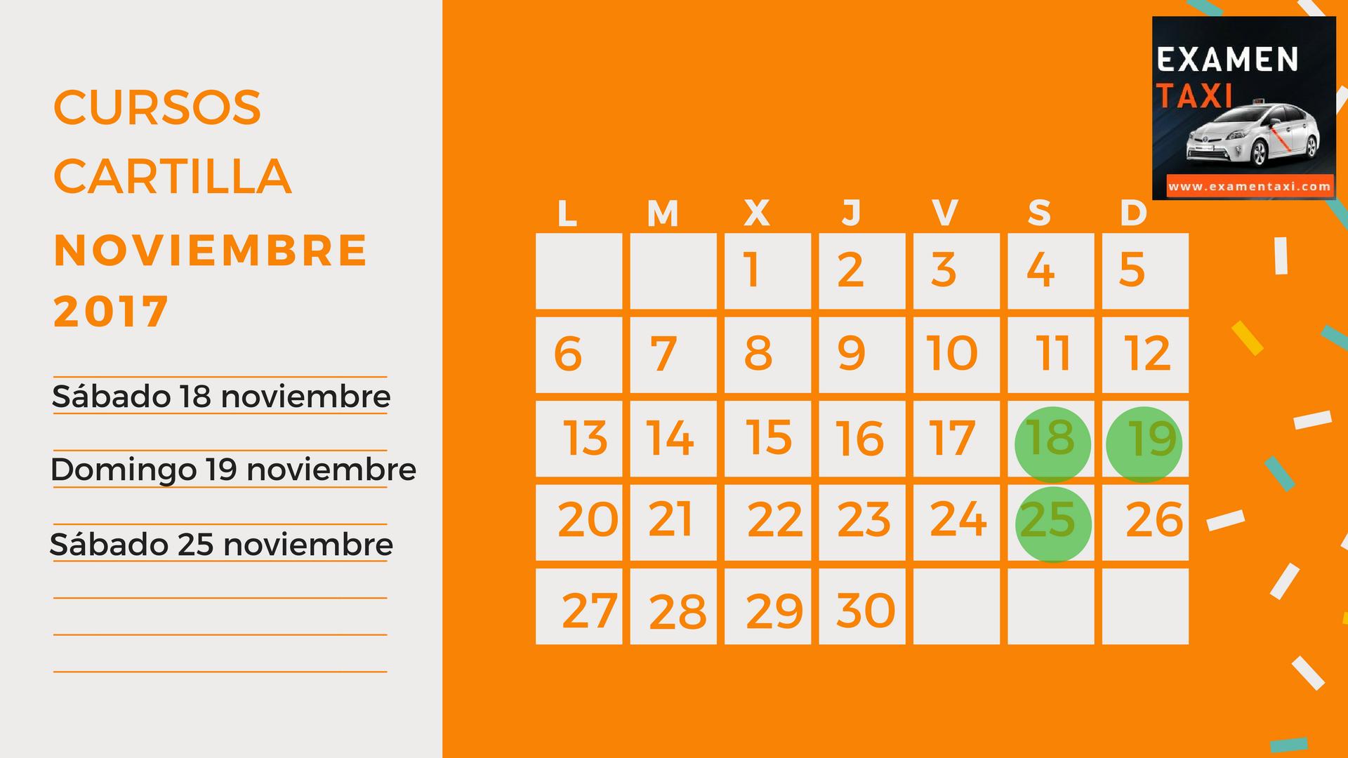 calendario cursos cartilla noviembre 2017