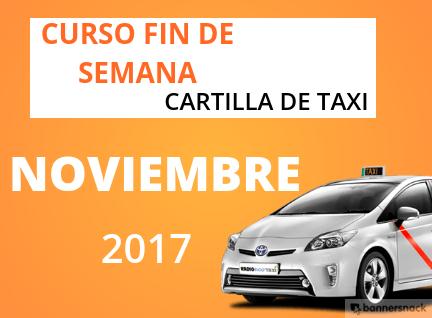curso cartilla de taxi noviembre 2017