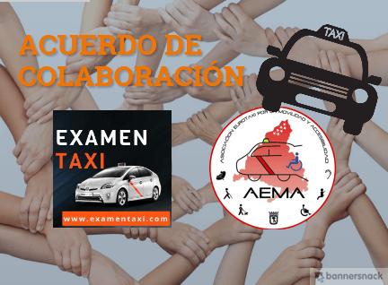 acuerdo de colaboración de examentaxi con AEMA Eurotaxi