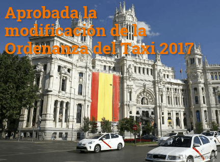aprobada la modificación de la ordenanza del taxi 2017