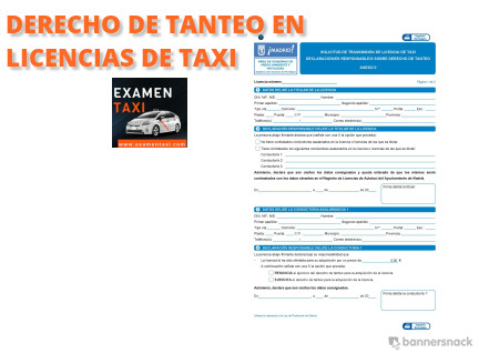 Derecho de Tanteo en las Licencias de Taxi