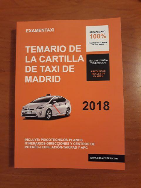 Temario Cartilla de Taxi 2018