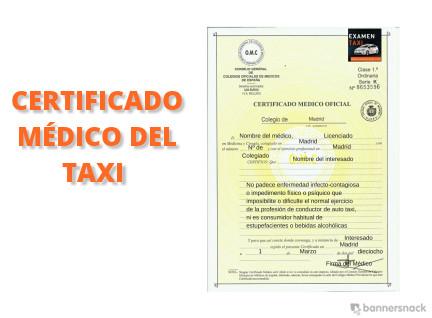 Certificado Médico del Taxi