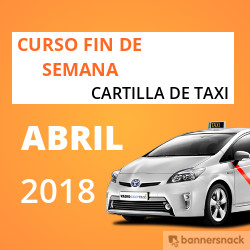 curso cartilla de taxi abril 2018