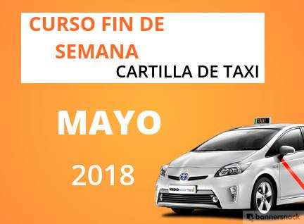 Curso Cartilla de Taxi Mayo 2018