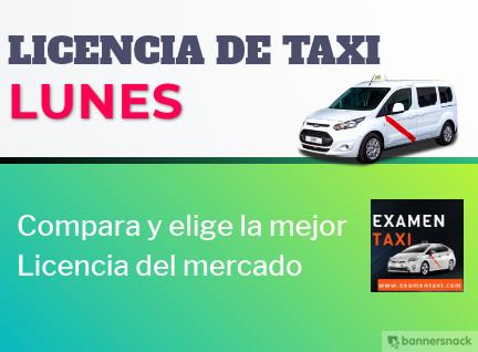 licencia de taxi lunes