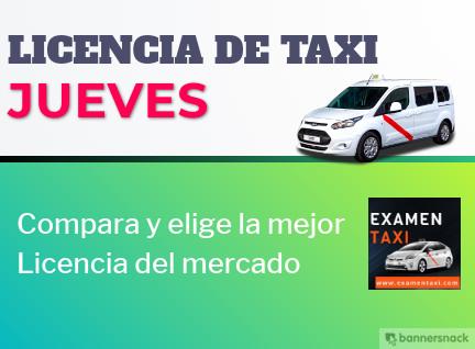 licencia de taxi jueves