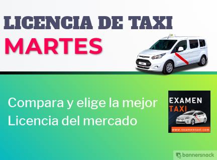 licencia de taxi martes