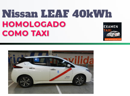 Nissan Leaf 40kWh homologado como taxi