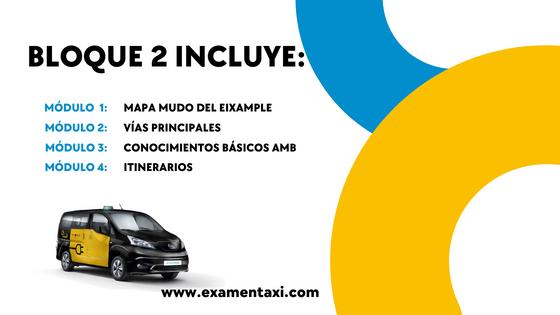 Bloque 2 Curso Online Credencial Taxi Barcelona