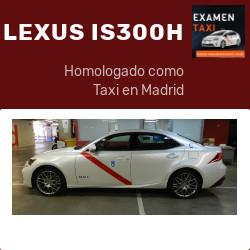 LEXUS IS300h homologado como taxi