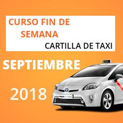 curso cartilla de taxi septiembre 2018