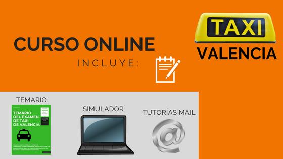 Curso Online Taxi de Valencia