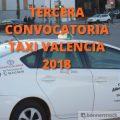 tercera convocatoria del examen de taxi de valencia 2018