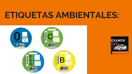 DGT etiquetas ambientales