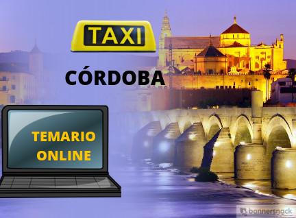 temario del examen de taxi de córdoba