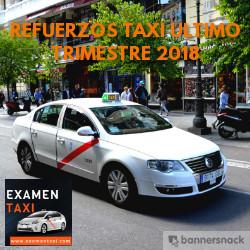 Refuerzos de Taxi Último Trimestre 2018