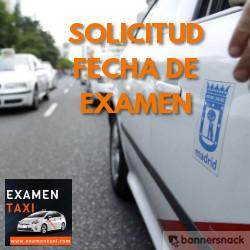 solicitud fecha de examen de taxi