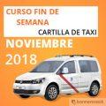 curso cartilla de taxi noviembre 2018