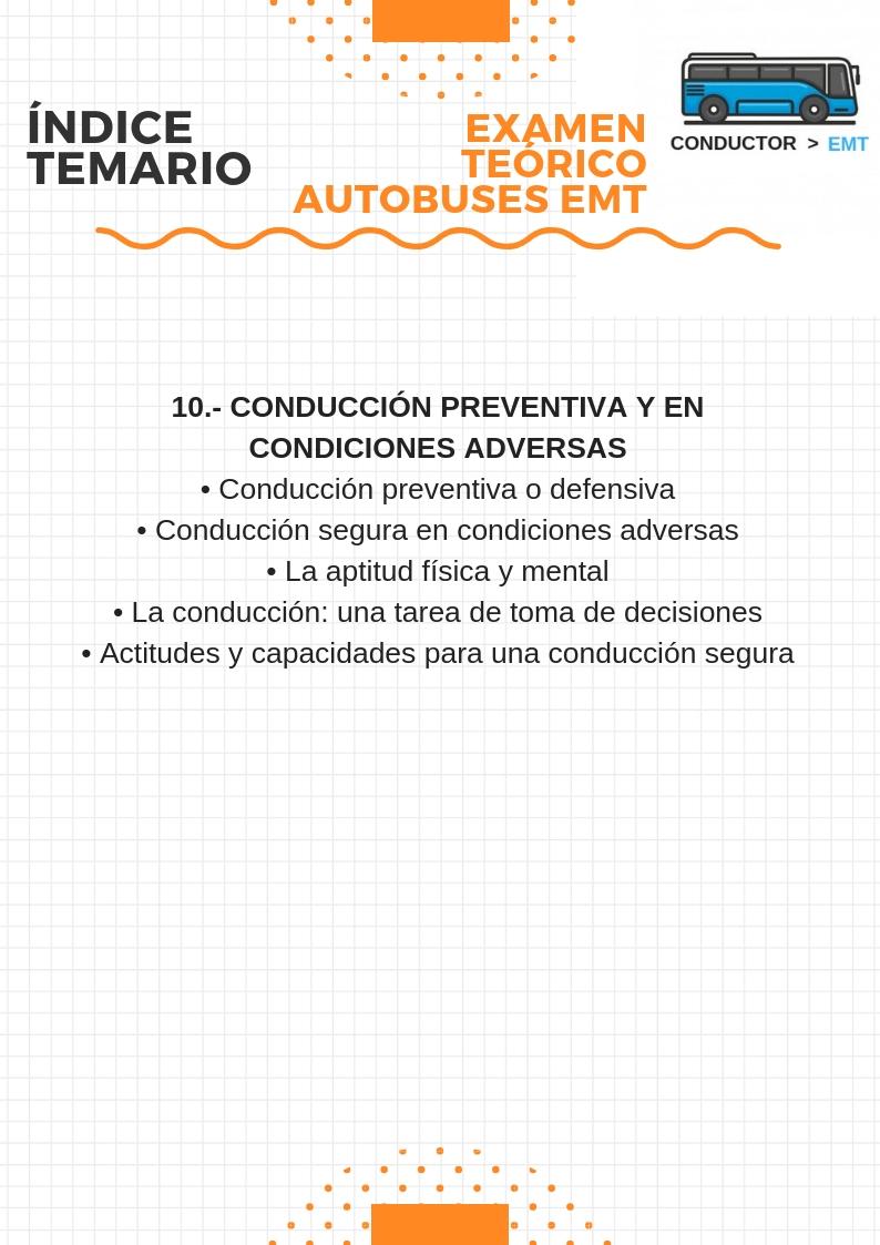 indice temario EMT 5