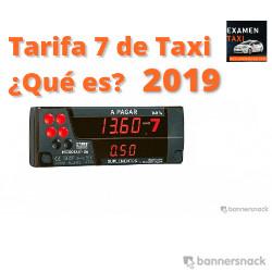 Tarifa 7 de Taxi para 2019