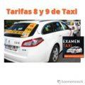 tarifas 8 y 9 de taxi