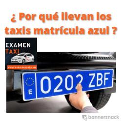 taxis matrícula azul