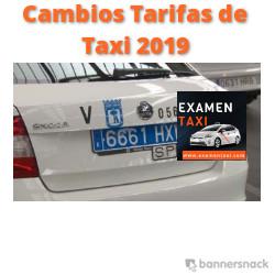 Cambios Tarifas de Taxi 2019