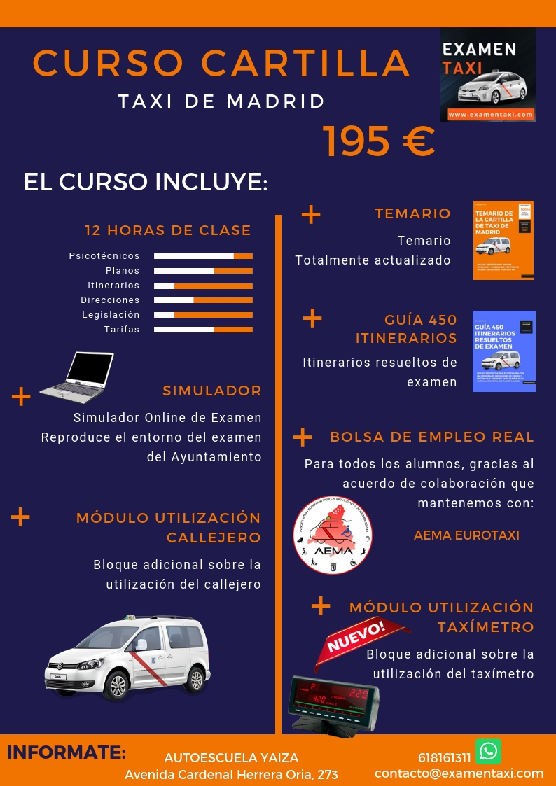 Curso Cartilla de Taxi