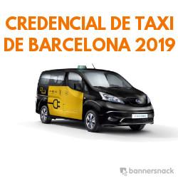 Credencial del Taxi de Barcelona 2019