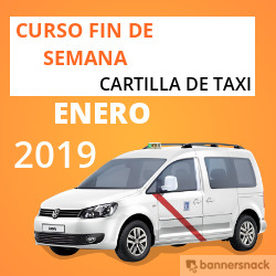 curso cartilla de taxi enero 2019