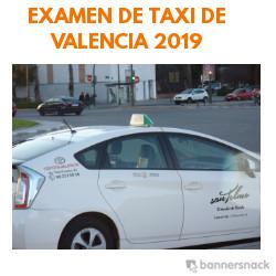 examen de taxi de valencia 2019