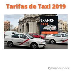 Tarifas de Taxi 2019