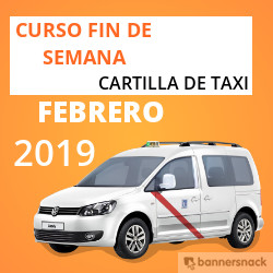 Curso Cartilla de Taxi Febrero 2019