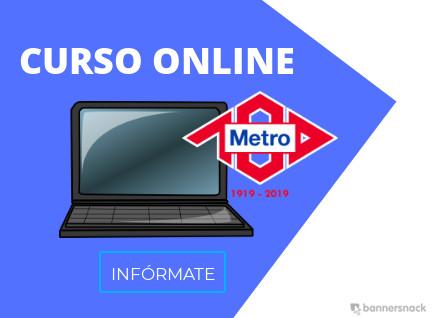 curso online metro de madrid