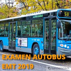 examen de conductor de autobuses EMT 2019