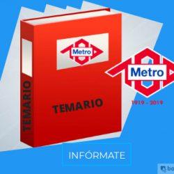 temario del metro de madrid 2019