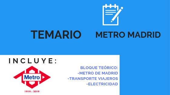 temario metro de madrid