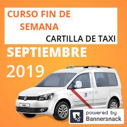 Curso Cartilla de Taxi Septiembre 2019