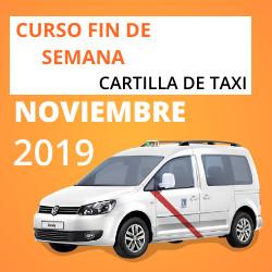 Curso Cartilla de Taxi Noviembre 2019