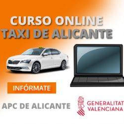 curso online de taxi de alicante