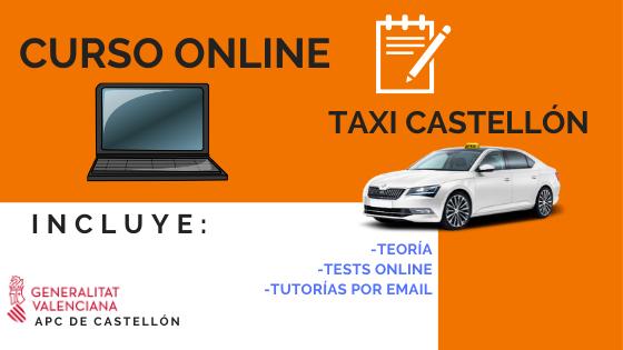 curso online de taxista de castellón