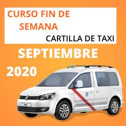 Curso Cartilla de Taxi Septiembre 2020