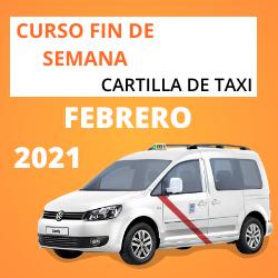 curso cartilla de taxi febrero 2021