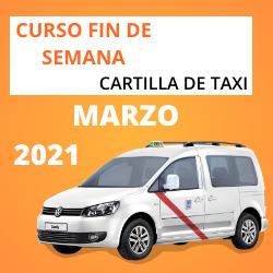 curso cartilla de taxi marzo 2021