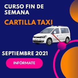 Curso Cartilla de Taxi Septiembre 2021